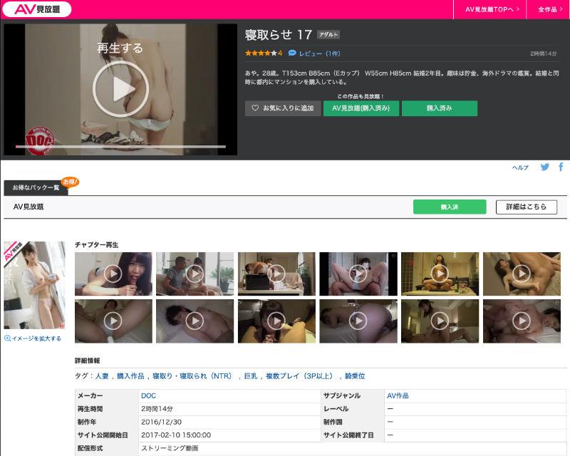 楽天アダルトAV見放題はパソコンでの視聴時、左上の小画面で動画が再生される